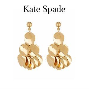 Twisted Oval Chandelier Earrings